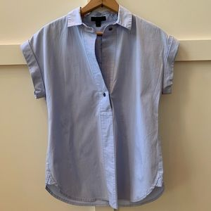 j crew oxford popover blouse